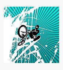 BMX Pop Art Blue Photographic Print