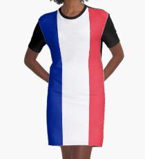 France Flag Graphic T-Shirt Dress