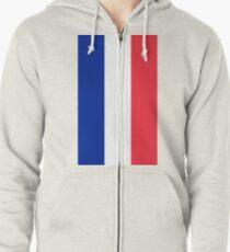 France Flag Zipped Hoodie