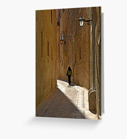 Narrow Streets Greeting Card