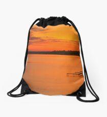 """Grand Traverse Bay East Dawn"" Drawstring Bag"
