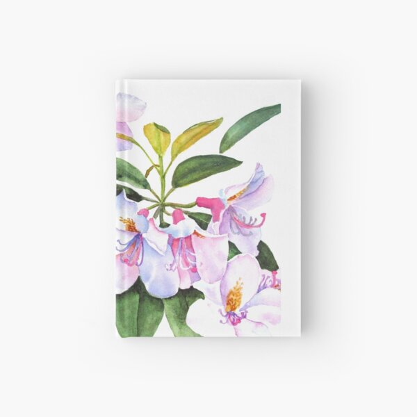 Spring Rhody Watercolor Hardcover Journal