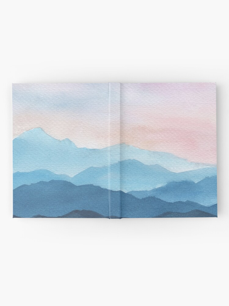 Alternate view of Blue Abstract Mountains Hardcover Journal