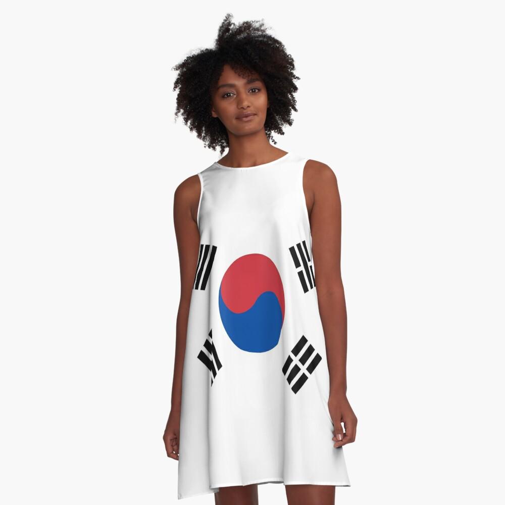 South Korea Flag A-Line Dress Front