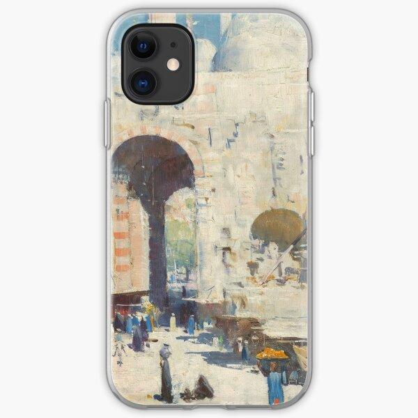 Cairo Street by Arthur Streeton iPhone Soft Case