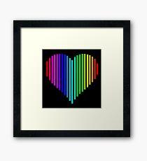 Techno Love Framed Print