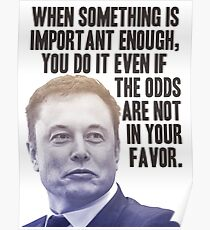 Elon Musk Quote Poster
