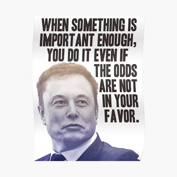 Cita de Elon Musk Póster
