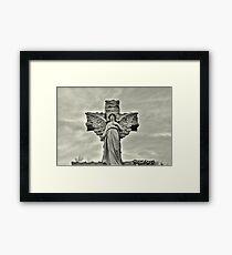 Weeping Grey Angel Framed Print