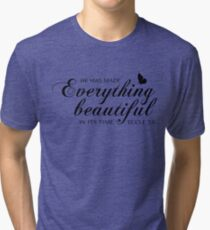 Eccle 3:11 He has made everything beautiful in its time Tri-blend T-Shirt