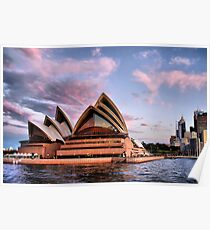 Sunset at Bennelong Point II Poster