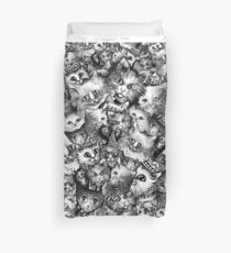 Cute Strange Creepy Weird Cat Pattern Duvet Cover