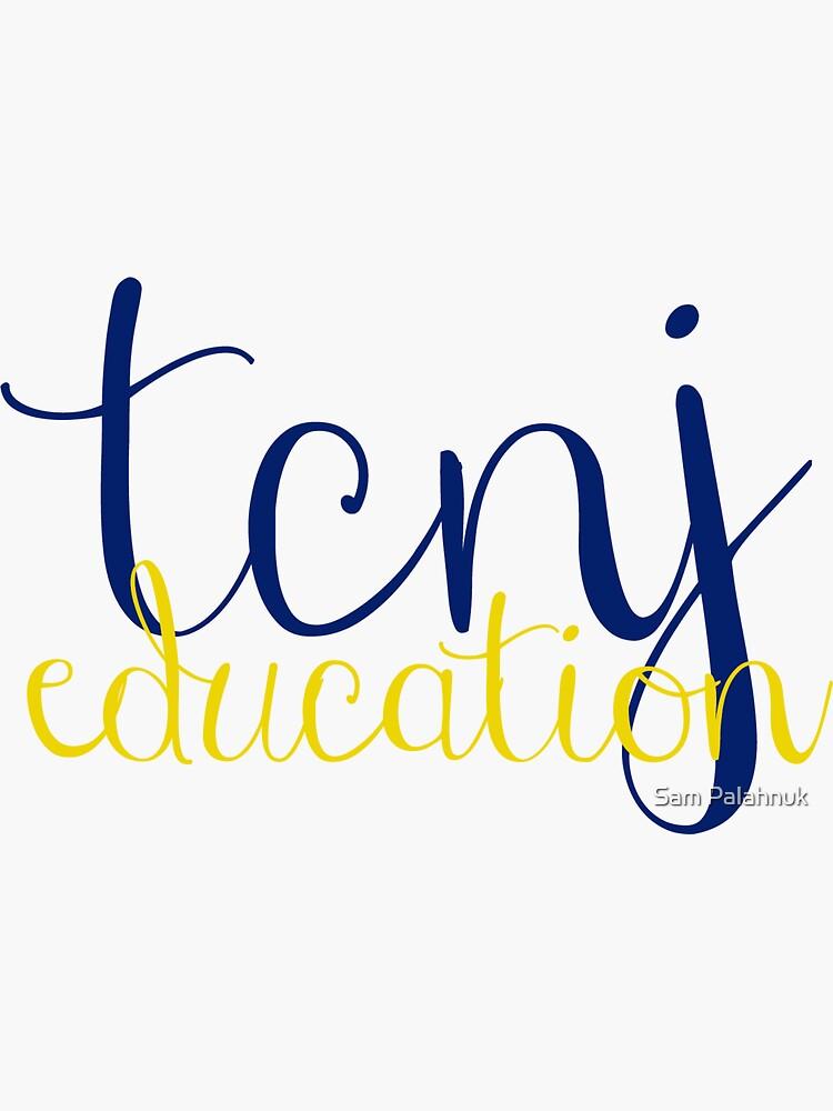 TCNJ Education Sticker  by sampalahnukart