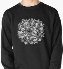 Cute Strange Creepy Weird Cat Pattern Pullover Sweatshirt