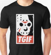 FUNNY TGIF FRIDAY SHIRT  Slim Fit T-Shirt