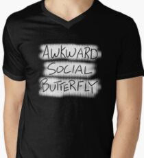 Awkward Social Butterfly Men's V-Neck T-Shirt