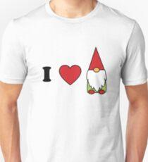 I Herz gnomes niedlicher Gnomliebhaberentwurf Slim Fit T-Shirt