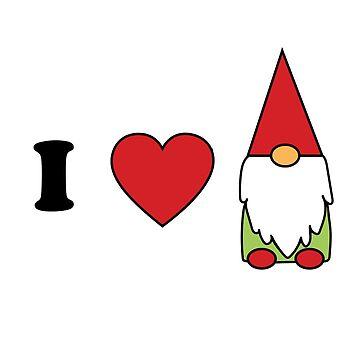 I heart gnomes cute gnome lovers design by lcorri