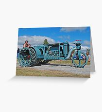 Sieve-Grip Tractor Greeting Card