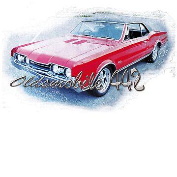 Oldsmobile 442  by karmadesigner