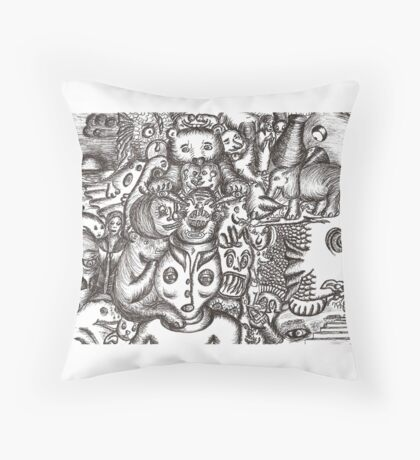Escapees from the mind Throw Pillow