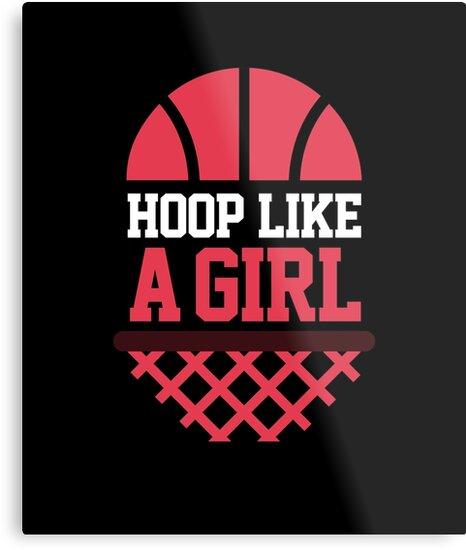 \'Hoop like a girl | basketball shirt | basketball coach gift | basketball  team gift | sports quote | basketball quotes | basketball player | ...
