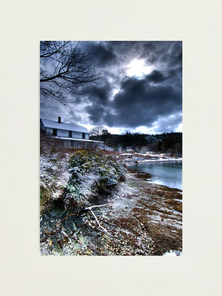 Alternate view of Springwater Lodge, Mayne Island Photographic Print