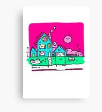 Happy Home Blueprints Canvas Print