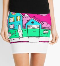 Happy Home Blueprints Mini Skirt