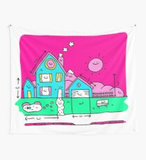 Happy Home Blueprints Wall Tapestry