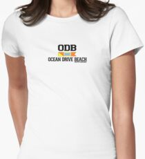 Ocean Drive - South Carolina.  Women's Fitted T-Shirt