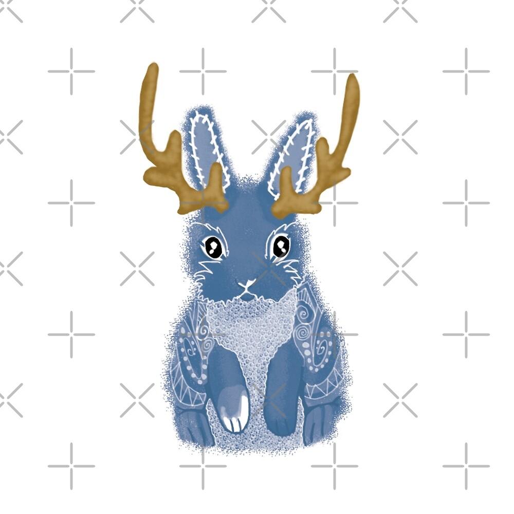 Jackalope Spirit Animal by tinaschofield
