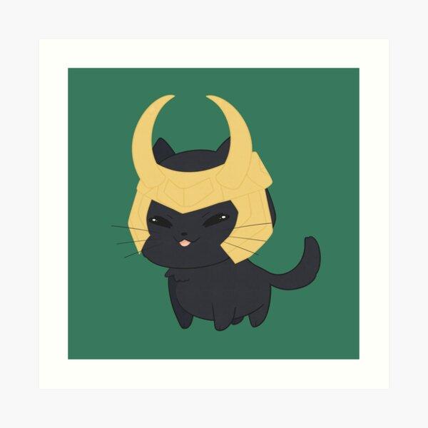 Cat Loki Art Print