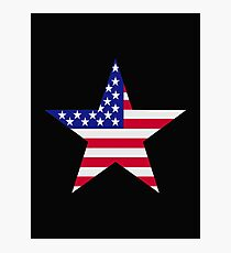 Stars and stripes flag Photographic Print