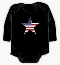 Stars and stripes flag One Piece - Long Sleeve