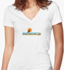 Ocean Drive - South Carolina.  Women's Fitted V-Neck T-Shirt