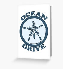 Ocean Drive - South Carolina.  Greeting Card