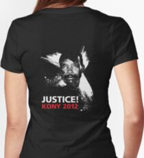 JUSTICE! KONY 2012 Womens Fitted T-Shirt