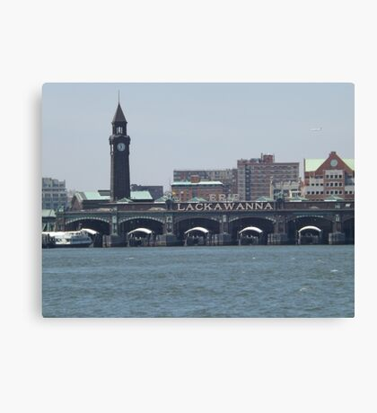 Classic Erie Lackawanna Ferry and Train Terminal, Hoboken, New Jersey Canvas Print