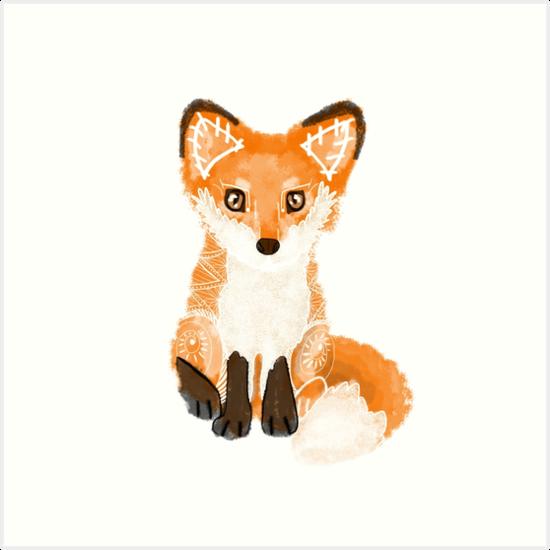 Foxy Spirit Animal by tinaschofield