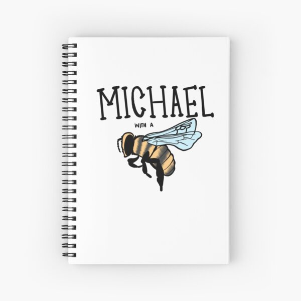 hi my name is Michael with a b... Spiral Notebook
