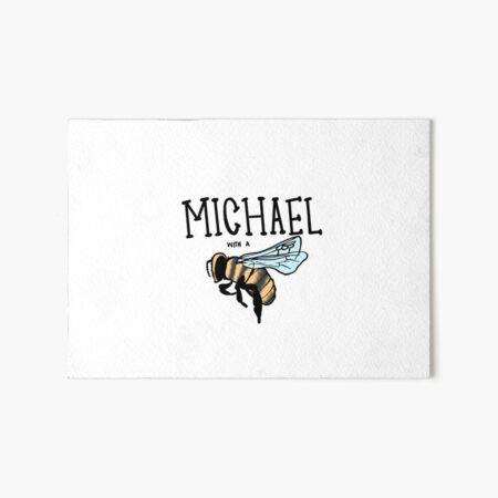 hi my name is Michael with a b... Art Board Print