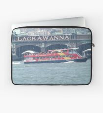 Tourist Ferry Passing the Erie Lackawanna Train and Ferry Terminal, Hoboken, New Jersey      Laptop Sleeve