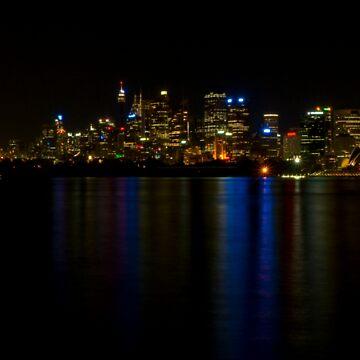 Sydney Night Panorama by scatrdjason