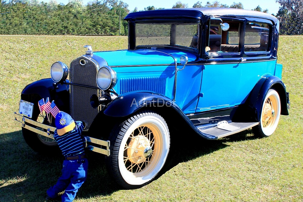 "1931 Model ""A"" Ford and Friend by AuntDot"