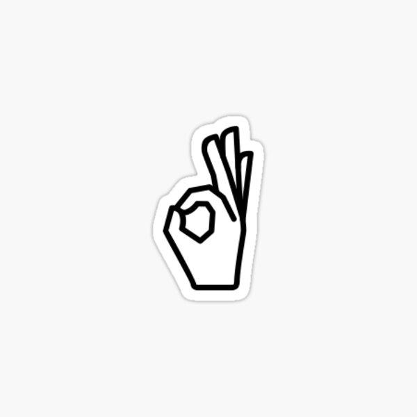 """""""OK"""" Hand Sign Sticker"""