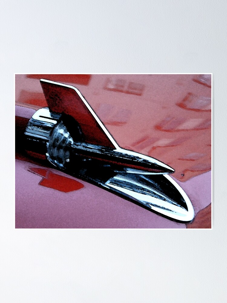Alternate view of Red 57 Chevy Poster