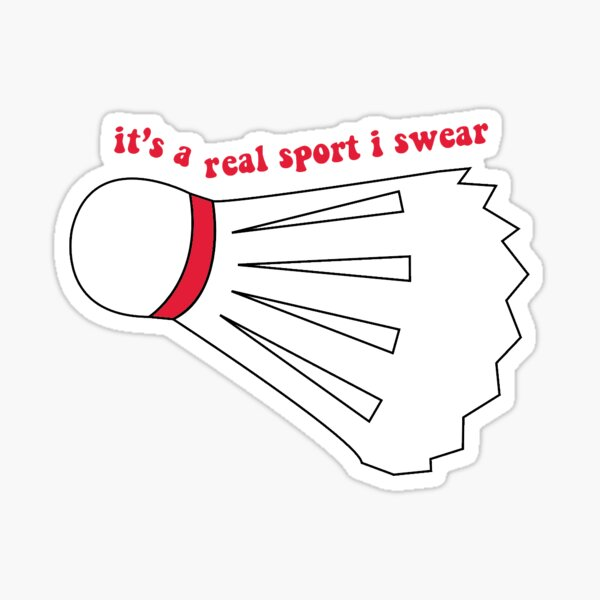 badminton funny Sticker