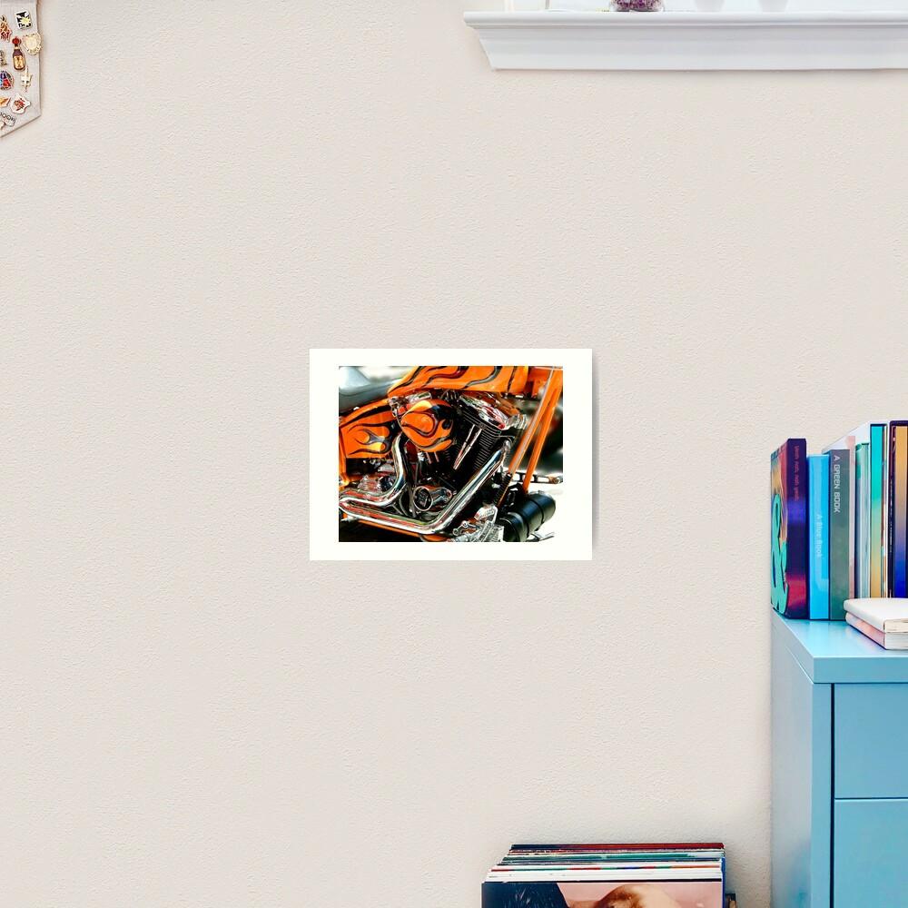 Flames and Chrome Art Print