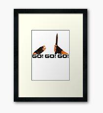 GO! GO! GO! - Counter Strike Knife Tee Framed Print